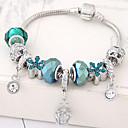 abordables Bracelet-Breloque Charms Bracelet Femme Strass Fleur dames Mode Bracelet Bijoux Bleu pour Soirée Anniversaire