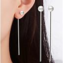 preiswerte Ohrringe-Damen Einzelkette Tropfen-Ohrringe - versilbert Anhänger Stil Klassisch Schmuck Weiß Für Weihnachts Geschenke Hochzeit Party Besondere Anlässe Jahrestag Geburtstag