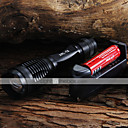 저렴한 메이크업 & 네일 케어-LED손전등 LED 2000 lm 5 배터리, 충전기 포함 조절가능한 초점 캠핑 / 등산 / 동굴탐험