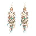 cheap Women's Watches-Women's Crystal Obsidian Drop Earrings - Crystal Resin Ladies Tassel Vintage Euramerican Jewelry Light Blue / Rainbow / Candy Pink For Wedding Party Daily