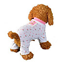 abordables Vêtements & Accessoires pour Chien-Chien Combinaison-pantalon Pyjamas Vêtements pour Chien Fruit Rose Coton Costume Pour Eté Homme Femme Décontracté / Quotidien