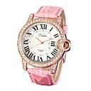 זול שעוני נשים-בגדי ריקוד נשים שעון יד Japanese חיקוי יהלום PU להקה אנלוגי מדבקות עם נצנצים אופנתי לבן / ורוד - לבן ורוד