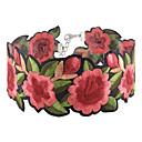billige Mode Halskæde-Dame Kort halskæde Blomst Damer Asiatisk Mode Euro-Amerikansk Rød Halskæder Smykker 1pc Til Fest