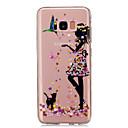tanie Etui / Pokrowce do Samsunga Galaxy S-Kılıf Na Samsung Galaxy S8 Plus S8 IMD Przezroczyste Wzór Czarne etui Seksowna dziewczyna Miękkie TPU na S8 Plus S8 S5 Mini S4 Mini