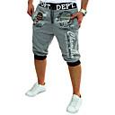 ieftine DIY Accesorii și Unelte-Bărbați Activ / De Bază Bumbac Larg / Activ / Pantaloni Sport Pantaloni - Scrisă Imprimeu Gri Închis / Vară