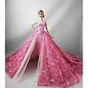 preiswerte Barbie Kleidung-Party/Abends Kleider Für Barbie-Puppe Baumwolle Terylen Kleid Für Mädchen Puppe Spielzeug
