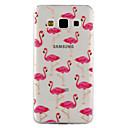 hesapli Kolyeler-Pouzdro Uyumluluk Samsung Galaxy A5(2017) A3(2017) Şeffaf Temalı Süslü Arka Kapak Flamingo Yumuşak TPU için A3 (2017) A5 (2017) A5 A3