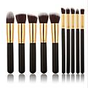 preiswerte Make-up & Nagelpflege-10 Stück Makeup Bürsten Professional Bürsten-Satz- / Rouge Pinsel / Lidschatten Pinsel Künstliches Haar Holz
