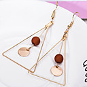 cheap Jewelry Sets-Women's Geometric Drop Earrings - Simple Style White / Black / Coffee For Daily