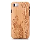 ieftine Carcase iPhone-Maska Pentru Apple iPhone 7 Plus iPhone 7 Model Embosat Capac Spate Rumegus Desene Animate Greu De lemn pentru iPhone 7 Plus iPhone 7