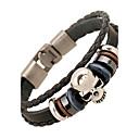 cheap Earrings-Men's Women's Leather Bracelet - Leather Vintage, Friendship Bracelet Black For Anniversary Gift Valentine