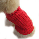 cheap Wrap Bracelets-Dog Sweater Dog Clothes Solid Colored Brown Red Blue Woolen Costume For Winter
