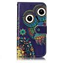 ieftine USB Flash Drives-Maska Pentru Samsung Galaxy A5(2017) A3(2017) Titluar Card Portofel Cu Stand Întoarce Model Embosat Carcasă Telefon Bufniţă Greu PU piele