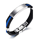 cheap Bracelets-Men's ID Bracelet - Silicone, Titanium Steel Rock, Fashion, Hip-Hop Bracelet Jewelry White / Red / Blue For Birthday Gift Sports