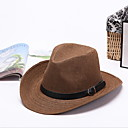 cheap Home Decoration-Men's Vintage / Vacation / Holiday Straw Hat - Solid Colored