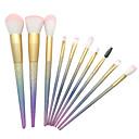 preiswerte Make-up & Nagelpflege-10 Stück Makeup Bürsten Professional Bürsten-Satz- / Rouge Pinsel / Lidschatten Pinsel Künstliches Haar Plastik