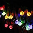 رخيصةأون مجموعة أضواء-2M أضواء سلسلة 20 المصابيح أبيض دافئ / لون متعدد بطارية