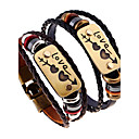 cheap Earrings-Men's Women's Leather Bracelet - Leather Natural, Fashion Bracelet Black / Brown For Special Occasion Gift