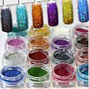 billige Sminke og neglepleje-1set 17pcs Pudder / Glitter Powder Elegant & Luksuriøs / Glitrende / Nail Glitter Nail Art Design