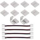 hesapli Konnektörler-10 adet 4 pin 5050 rgb için led şerit konektörü led şerit işıklar ve 4 adet led 5050 rgb şerit ışık konnektörü 4 iletken 10mm geniş şerit şerit atlamak