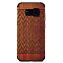 abordables Coques / Etuis pour Galaxy Série S-Coque Pour Samsung Galaxy S8 Plus S8 Antichoc Motif Coque Apparence Bois Dur PC pour S8 Plus S8 S7 edge S7