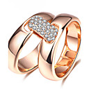 ieftine Inele-Pentru femei Zirconiu Cubic Inel de declarație Inel Zirconiu Placat Cu Aur Roz Aliaj femei Personalizat Neobijnuit Lux Design Unic Clasic Inele la Modă Bijuterii Roz auriu Pentru Cadouri de Crăciun