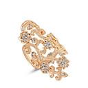 baratos Anéis Grossos-Mulheres Anel de declaração - Liga Cruz Fashion Tamanho Único Ouro Rose Para Casamento / Escritório e Carreira