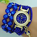 baratos Relógios Femininos-Mulheres Bracele Relógio Quartzo Preta / Azul / Vermelho Com Strass Analógico senhoras Flor Boêmio - Marron Vermelho Azul Um ano Ciclo de Vida da Bateria / Tianqiu 377