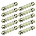 preiswerte Motorradbeleuchtung-10 Stück 36mm Auto Leuchtbirnen 1 W COB 100 lm 1 LED Innenbeleuchtung For Universal Alle Jahre