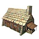 ieftine Cercei-Puzzle 3D Clădire celebru Casă Reparații Hârtie Rigidă pentru Felicitări Pentru copii Unisex Băieți Jucarii Cadou