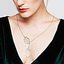 olcso Gyűrűk-Női Kötőfék Nyaklánc medálok Y nyaklánc Ezüst Leaf Shape Nyilatkozat hölgyek Divat Állítható Ezüst Aranyozott Nyakláncok Ékszerek Kompatibilitás Esküvő Parti Napi Hétköznapi