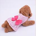 hesapli Köpek Giyim ve Aksesuarları-Köpek Elbiseler Köpek Giyimi Fiyonk Düğüm Mor / Mavi / Pembe Kumaş Kostüm Evcil hayvanlar için Yaz Kadın's Günlük / Sade