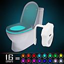hesapli Yenilikçi LED Işıklar-HKV 1 parça Tuvalet lambası Kızılötesi Sensör Renk Değiştiren