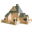 זול מפות שולחן-פאזלים3D פאזל ערכות לבניית מודלים בניין מפורסם עשה זאת בעצמך עץ טבעי קלסי בגדי ריקוד ילדים יוניסקס צעצועים מתנות