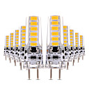 ieftine Papetărie-ywxlight® 10pcs g9 4w 600lm led bi-pin lumini 5730smd dimmable cald alb rece rece condus lampă lampă lampă candelabru 12v 12-24v