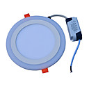 hesapli LED Filaman Ampuller-JIAWEN 18W 90 LED'ler Dekorotif Panel Işıkları Serin Beyaz Mavi AC85-265