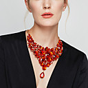 cheap Makeup & Nail Care-Women's Crystal Statement Necklace Bib Chunky Cheap Ladies Baroque Elegant Alloy Red Light Blue Rainbow 40+5 cm Necklace Jewelry 1pc For Wedding Party Anniversary Masquerade Engagement Party Prom