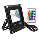 baratos Acessórios PS2-1pç 10 W Focos de LED Impermeável / Controlado remotamente / Regulável RGB 85-265 V Iluminação Externa / Pátio / Jardim