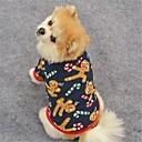 voordelige Hondenkleding & -accessoires-Kat Hond Jassen T-shirt Sweatshirt Hondenkleding Rendier Donkerblauw Bruin Fleece Kostuum Voor huisdieren Dames Feest Casual/Dagelijks