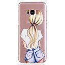 abordables Coques / Etuis pour Galaxy Série S-Coque Pour Samsung Galaxy S8 Plus / S8 Motif Coque Femme Sexy Flexible TPU pour S8 Plus / S8 / S7 edge