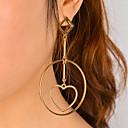 baratos Anéis-Mulheres Brincos dangle - Coração Importante, Pingente, Fashion Dourado / Prata Para Festa Festa / Noite Dia a Dia