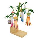 ieftine Cercei-Puzzle 3D Lucru Manual Din Hârtie Felinar Bambus Reparații Articole de mobilier Bambus Clasic Unisex Jucarii Cadou