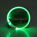 cheap Dog Collars, Harnesses & Leashes-Dog Collar LED Lights Adjustable / Retractable Rechargeable Solid Colored TPU Green Blue Pink