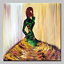 halpa Sisustustarrat-Hang-Painted öljymaalaus Maalattu - Ihmiset Abstrakti Moderni Ilman Inner Frame