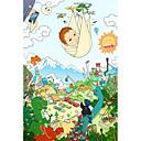 baratos Até R$ 3,39-Quebra-Cabeça Veado Desenho Anime Desenho Unisexo Brinquedos Dom