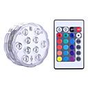 hesapli LED Gereçler-YWXLIGHT® 1 parça Gece aydınlatması LED RGB Batarya Kısılabilir Su Geçirmez Kablosuz Renk Değiştiren Dekorotif