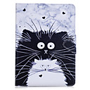 cheap iPad  Cases / Covers-Case For Apple Wallet / Card Holder / with Stand Full Body Cases Cat / Animal Hard PU Leather for iPad Air / iPad 4/3/2 / iPad Mini 3/2/1 / iPad Pro 10.5 / iPad (2017)