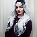 hesapli Makyaj ve Tırnak Bakımı-Sentetik Peruklar Dalgalı Ombre Sentetik Saç Ombre Saç / Orta Bölüm Ombre Peruk Kadın's Orta Bonesiz Siyah / Gri