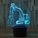 ieftine Lumini Nocturne LED-1set 3D Nightlight Atinge 7-Color USD Touch Sensor Schimbare - Culoare