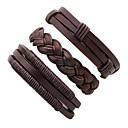 cheap Bracelets-Men's Leather Bracelet - Leather Twist Circle Personalized Bracelet Jewelry Brown For Stage Club